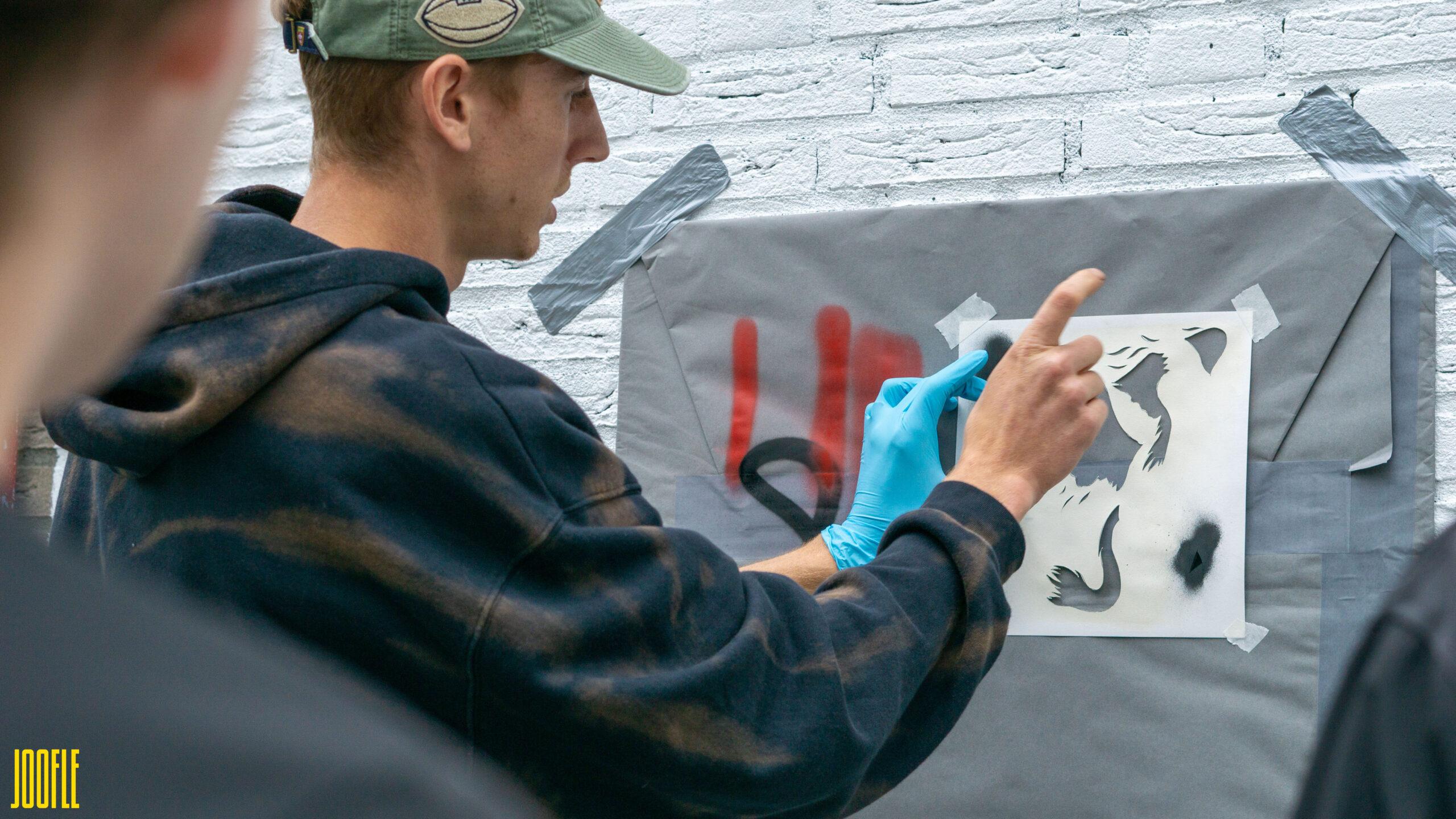 MDT_BAAS Streetart actie Leerdam Reclamebureau Joofle Reclame